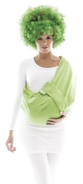 Wallaboo Baby Microfibre-Suede Sling - Lime